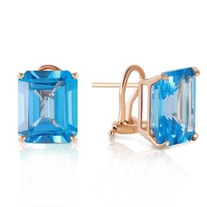 FRENCH CLIPS EARRING WITH NATURAL BLUE TOPAZ